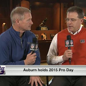 Mike Mayock discusses Auburn players with Gus Malzahn