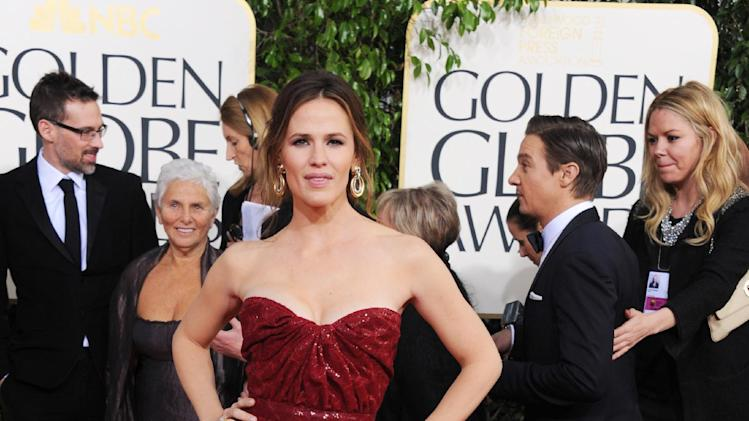 Actress Jennifer Garner arrives at the 70th Annual Golden Globe Awards at the Beverly Hilton Hotel on Sunday Jan. 13, 2013, in Beverly Hills, Calif. (Photo by Jordan Strauss/Invision/AP)