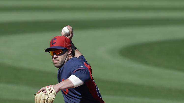 Cleveland Indians' Asdrubal Cabrera (13) in action during an exhibition spring training baseball game against the San Diego Padres Saturday, March 8, 2014, in Peoria, Ariz. (AP Photo/Darron Cummings)