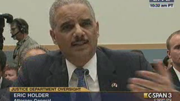 Holder to Hearing: Ask Somebody Else