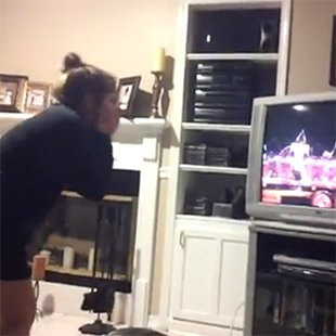 One Direction fan losing her cool watching them at the Olympics video