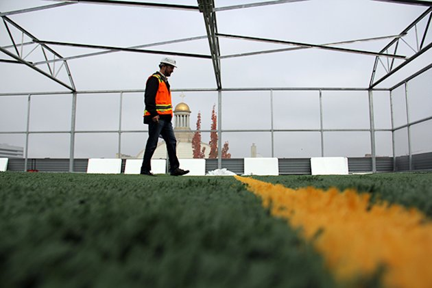 Seattle's Northwest School unveiled a state-of-the-art athletic complex with a rooftop field on Monday -- NorthwestSchool.org
