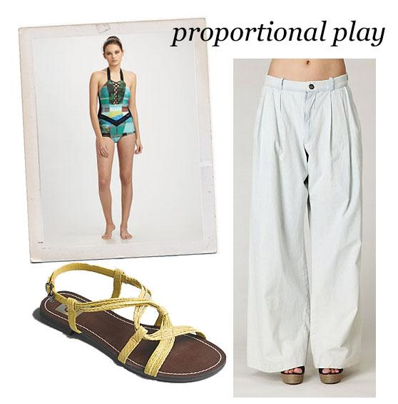 Swimsuit Styling: Slouchy Tailored