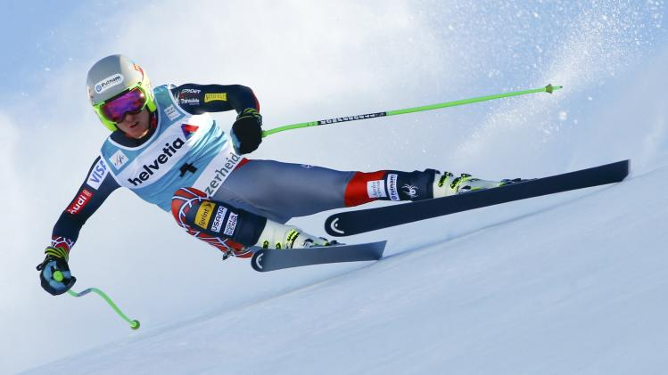 Ligety of the U.S. skis during the men's downhill event during the FIS Alpine Skiing World Cup finals in the Swiss ski resort of Lenzerheide