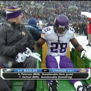 Will Minnesota Vikings running back Adrian Peterson play on Sunday?