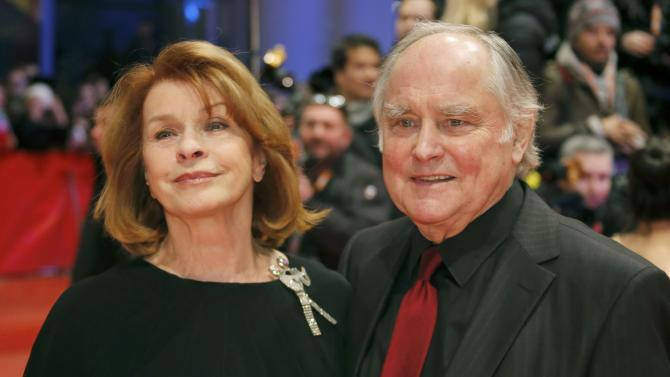 Senta Berger and husband Michael Verhoeven arrive for screening atopening gala of 66th Berlinale International Film Festival in Berlin