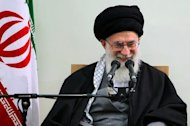 A handout photo provided by the office of Iran's supreme leader Ayatollah Ali Khamenei shows him addressing a meeting with members of the Assembley of Experts in Tehran. Khamenei has welcomed comments by US President Barack Obama damping down talk of war against Tehran over its controversial nuclear drive