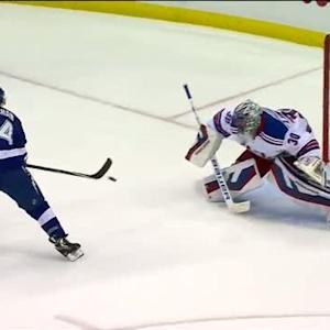 Callahan flips home backhander on breakaway