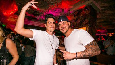 Vanderpump Rules Stars Tom Sandoval and Jax Taylor Party at the Foundation Room