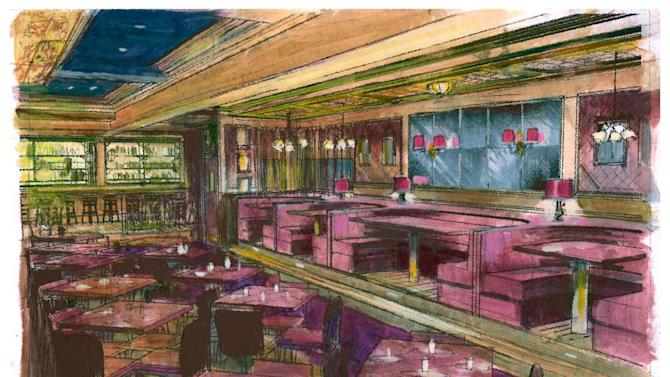 This artists rendering released by Keith Sherman & Associates shows the layout for 54 Below, a new Broadway nightclub in the heart of  New York's Times Square. Located in the cellar of the infamous Studio 54, the club will open on June 5 and will feature Patti LuPone with a two-week stand.  (AP Photo/Keith Sherman & Associates)