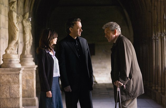 The Da Vinci Code Columbia Pictures Production Stills 2006 Audrey Tautou Tom Hanks Ian McKellen