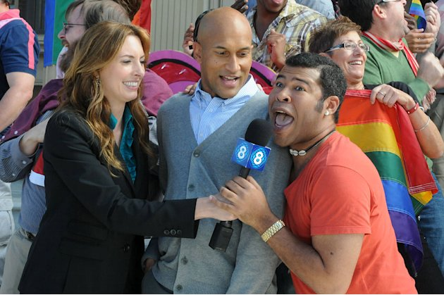 "Erin Gibson, Keegan-Michael Key, and Jordan Peelel in ""Key & Peele."""