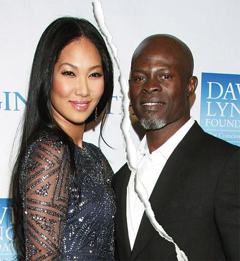 Kimora Lee Simmons, Djimon Hounsou Separating