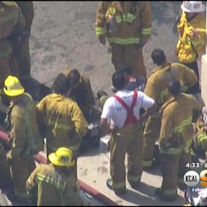 Firefighters Drill Life-Threatening Scenarios In LAFD Training Session