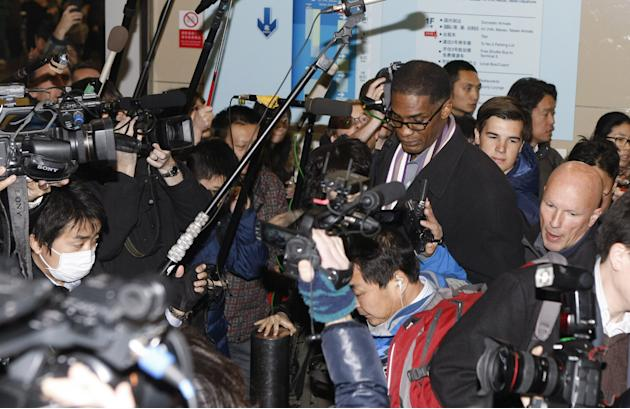 Former NBA Players Arrive In Beijing From North Korea