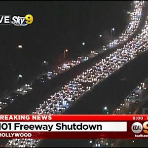 Bomb Squad On Scene Of 2-Car Collision On SB 101 Freeway, All Lanes Closed