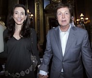 British musician Paul McCartney and New York socialite Nancy Shevell are seen at the Spring/Summer 2011 show of McCartney's daughter, designer Stella McCartney in Paris. Former Beatle McCartney could marry Shevell at the same location he tied the knot with his first wife Linda, according to documents