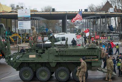 US troops just paraded along the Russian border. Is that as insane as it sounds?