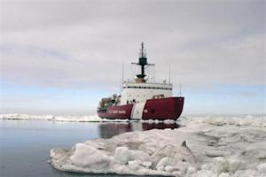 Polar Star, the U.S. Coast Guard icebreaker, completes ice drills in the Arctic