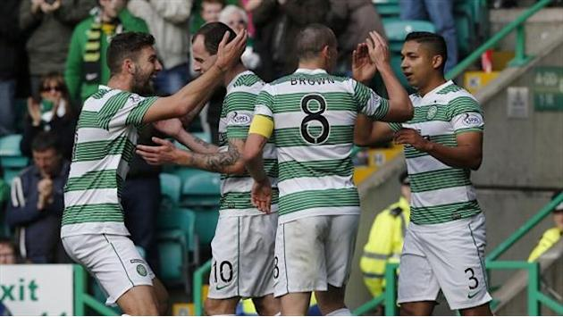 Scottish Premiership - Celtic go top with win over Motherwell