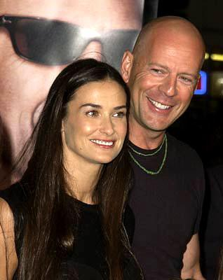 Demi Moore and Bruce Willis at the Westwood premiere of MGM's Bandits