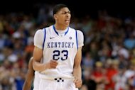 The New Orleans Hornets nabbed the top pick in next month's NBA Draft, and will have first dibs on University of Kentucky freshman Anthony Davis, seen here on March 31, the national collegiate player of the year