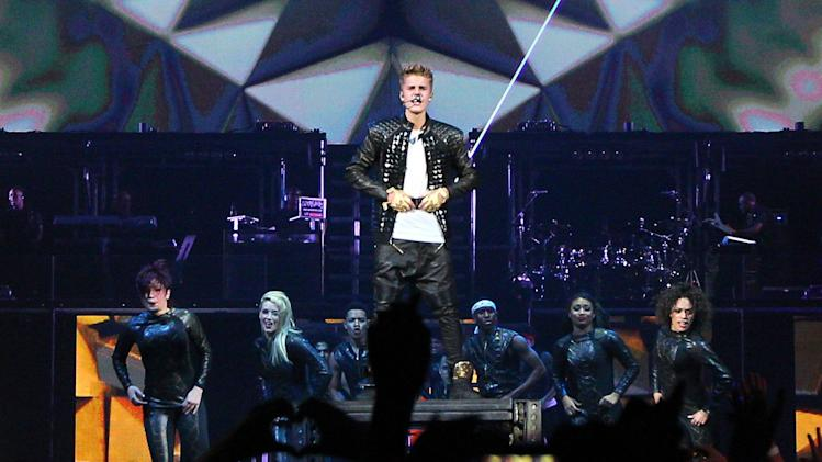 Justin Bieberkicks off the start of his Believe tour at the Jobing Arena with support from Carly Rae Jepsen and Cody Simpson. The 18-year-old pop star battled illness during the show and vomited on stage in front of fans.Glendale, Arizona - 29.09.12Mandatory Credit: WENN.com
