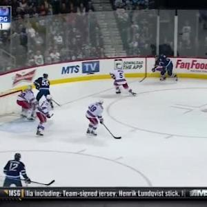Henrik Lundqvist Save on Blake Wheeler (17:56/1st)