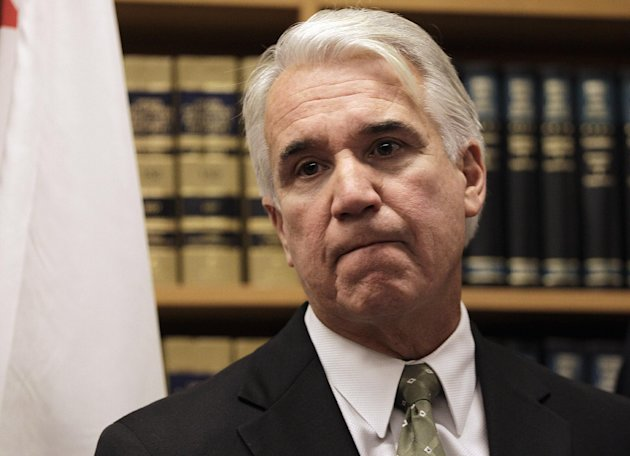 """San Francisco District Attorney George Gascon fields questions from reporters Wednesday, Jan. 11, 2012, in San Francisco. San Francisco prosecutors say they hope to decide by the end of the week whether to file any charges in the domestic violence investigation of newly elected Sheriff Ross Mirkarimi. District Attorney George Gascon said Wednesday that """"hopefully"""" a decision in the case could be reached as early as Friday. According to a police affidavit, a neighbor reported that Mirkarimi grabbed and bruised wife Eliana Lopez's right arm during a heated argument at their home on New Year's Eve. Mirkarimi has denied the allegations. Lopez, a former Venezuelan telenovela star, has said she has no complaint against her husband and that the incident was taken out of context."""