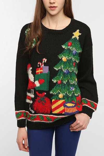 Urban Renewal ugly holiday sweater, $34, urbanoutfitters.com