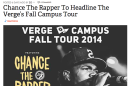 Someone thought we were sponsoring a rap concert, which would be awesome