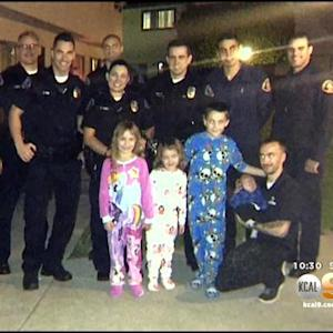 Police, Firefighters Team Up In Covina To Save A Family's Christmas