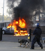 Police calm London, but riots flare across UK