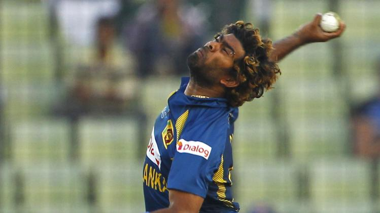 Sri Lanka's Lasith Malinga bowls against Pakistan during their Asia Cup final cricket match in Dhaka, Bangladesh, Saturday, March 8, 2014. (AP Photo/A.M. Ahad)