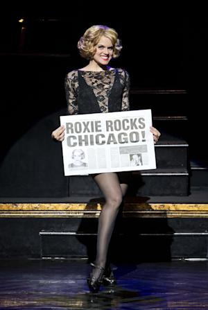 "In this undated publicity photo provided by The Publicity Office, Amy Spanger will star as Roxie Hart when the Broadway musical hit ""CHICAGO"" plays its record-breaking 6,681st performance at the Ambassador Theatre on Thursday, Dec. 20, 2012, in New York. (AP Photo/The Publicity Office, Jeremy Daniel)"