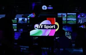 Production staff work in the gallery during the BT Sport channel launch program at the BT Sport studio in the Queen Elizabeth Olympic Park, in east London