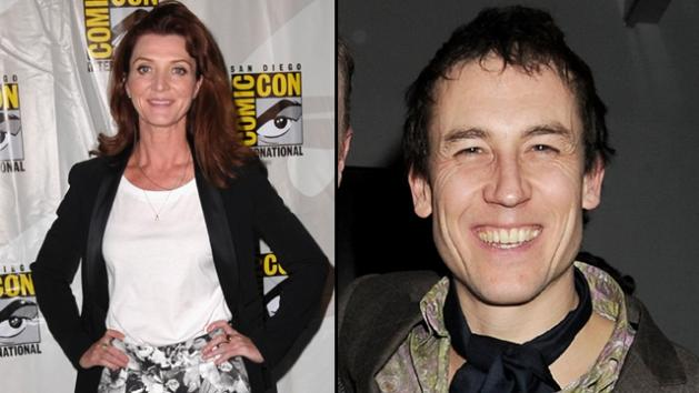 Michelle Fairley at San Diego Comic-Con 2012 (left) and Tobias Menzies in London (right) -- Getty Images