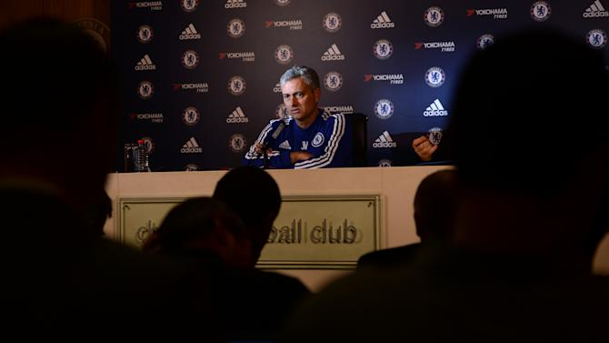 Chelsea manager Jose Mourinho during the press conference