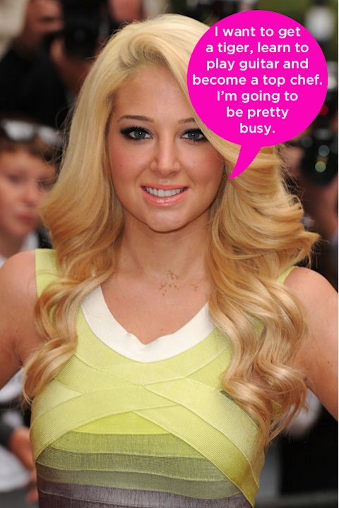 "Celebrity quotes: Tulisa revealed her unusual plans for retirement his week, saying that she had a few things on her to do list. The singer said: ""When I retire, I want to buy a home there. I want to"