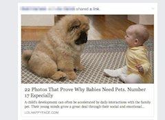 5 Characteristics Of High Converting Headlines image why babies need pets 1