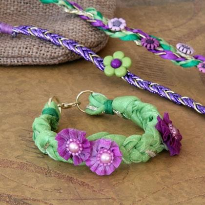 Rapunzel's Braided Ribbon Bracelets