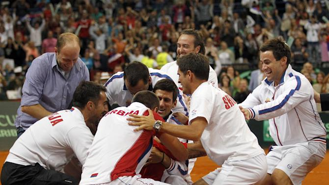 Serbia beats Canada to reach Davis Cup final