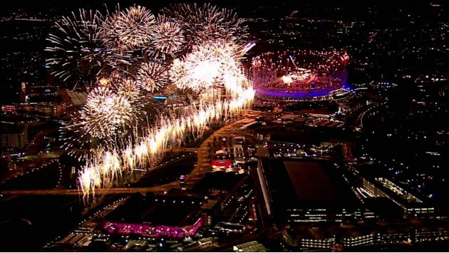 The Fireworks at the ' Olympic Opening Ceremony '