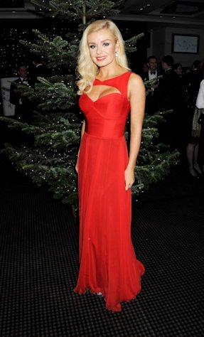 Katherine Jenkins switches on the St James' Church Christmas Lights on Jermyn Street on November 20, 2012 in London -- Getty Images