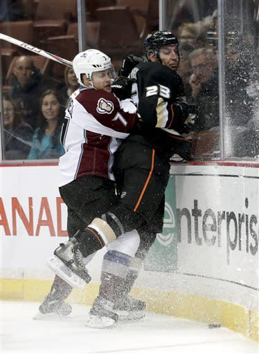 NHL-worst Colorado surprises Anaheim Ducks 4-1
