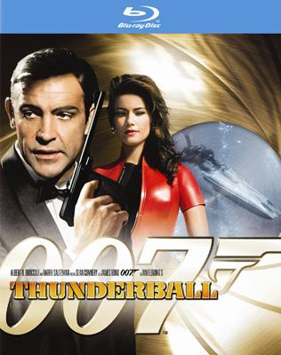Blu-ray box art for Fox Home Entertainment's Thunderball