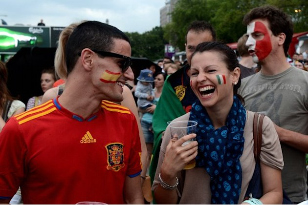 Spain's And Italy's Fans AFP/Getty …