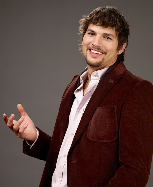 "Ashton Kutcher of the film ""Spread"" poses for a portrait at the Film Lounge Media Center during the 2009 Sundance Film Festival on January 18, 2009 in Park City, Utah."