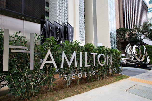 Entrance of Hamilton Scotts luxury residence in Singapore (Yahoo! photo)
