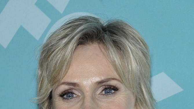 Actress Jane Lynch arrives at the 2013 FOX Programming Presentation Post Party at Wollman Rink in Central Park on Monday, May 13, 2013 in New York, New York. (Photo by Andrew Marks/Invision for FOX/AP Images)
